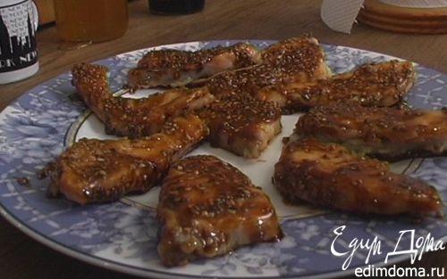 Рецепт Пальчики из семги в медовом соусе