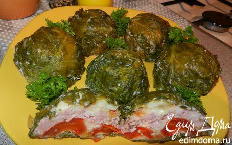 Рецепт Ветчино-овощная закуска-омлет