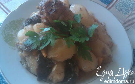 Рецепт Жаркое из курицы с картофелем и баклажанами.