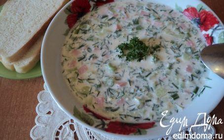 Рецепт Окрошка на кефире и айране