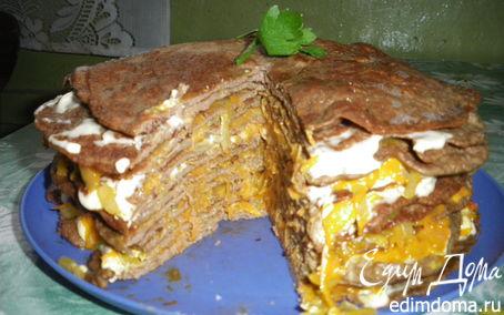 Рецепт Вкусненький Печеночный торт