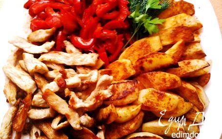 Рецепт Пряная индейка с овощами