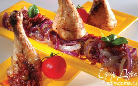 Рецепт Курица на гриле с луком и соусом «Санторини»