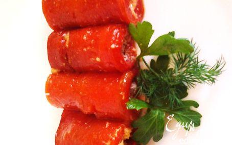 Рецепт Рулетики из перчика с пармезаном и розмарином