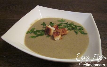 Рецепт Постны суп-крем из шампиньонов с кокосовым молоком