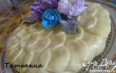 Рецепт Торт украшенный живыми цветами...