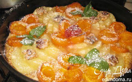 Рецепт Абрикосово-ананасовый тарт в карамели