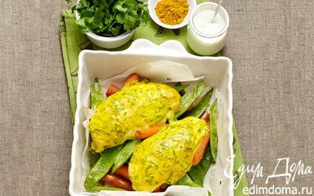 Рецепт Курица, запеченная в йогурте и карри