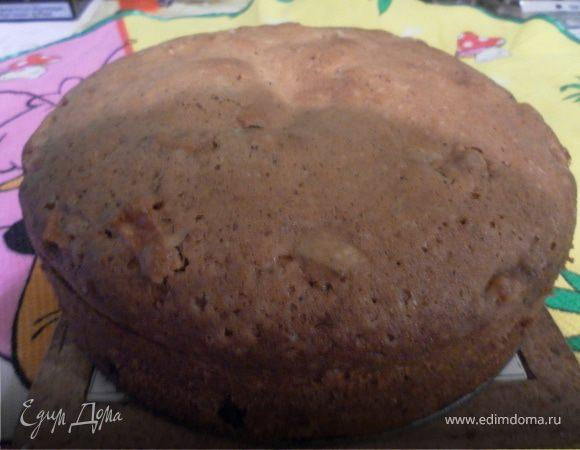 Постный яблочный кекс
