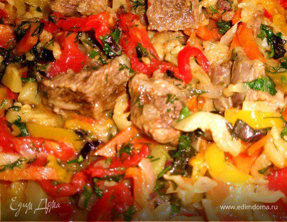 Овощное рагу с телятиной