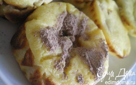 Рецепт Творожная запеканка с персиками.