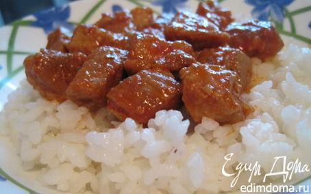 Рецепт Свинина тушёная в томатах