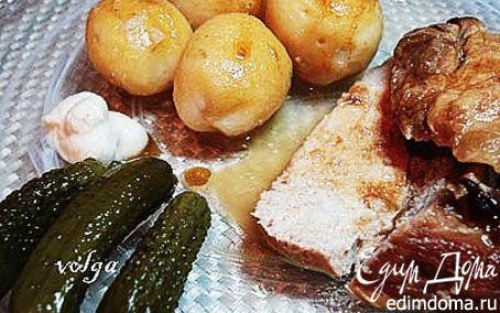 Рецепт Свинина жареная с квасом