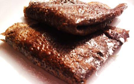 Рецепт Шоколадные блинчики с восхитительной начинкой