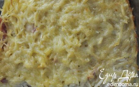 Рецепт Гратен из макарон и ветчины (Gratin)