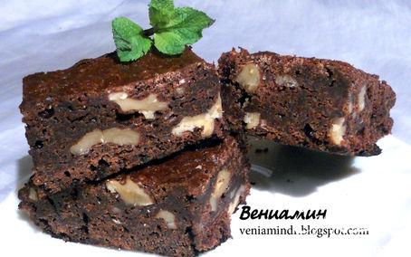 Рецепт Медовый брауни с грецкими орехами