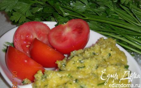 Рецепт Мамалыга с зеленью в хлебопечке