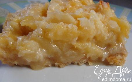 Рецепт Ананасово-кокосовые брусочки/Pineapple bars