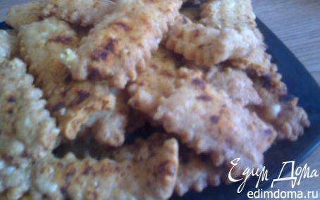 Рецепт Хрустящие сырные палочки с паприкой