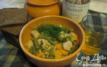 Рецепт Свиное рагу с овощами. Свинья в Шардоне.