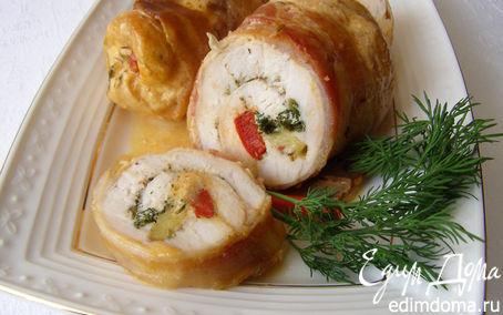 Рецепт Рулеты из куриных грудок с овощами