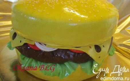 Рецепт Гамбургер, сладкий, а потому что ТОРТ)