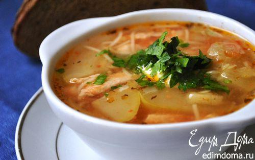 Рецепт Французский куриный суп с кабачками