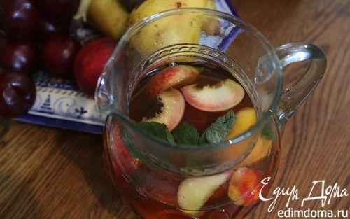 Рецепт Чай с фруктами и базиликом