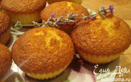 Рецепт Лимонные маффины с лавандой