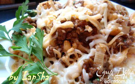 Рецепт Паста с мясом и белыми грибами