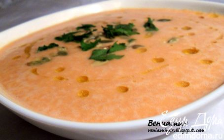 Рецепт Чечевичный суп-пюре с томатами и сельдереем