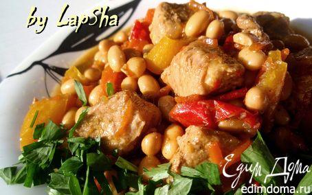 Рецепт Мясное рагу с соевыми бобами и орегано