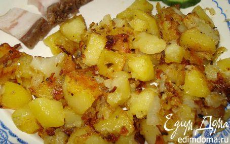 Рецепт Картофель, жаренный в духовке с луком и сухими травами