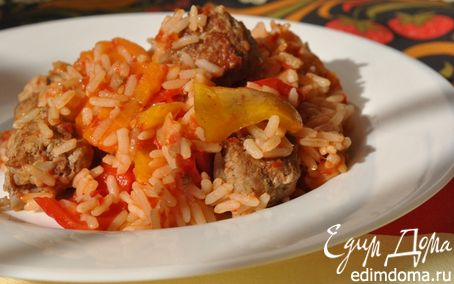 Рецепт Котлетки-фрикадельки с рисом и овощами