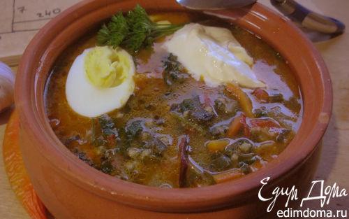 Рецепт Обед столяра (первое). Зеленый суп без мяса