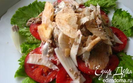 Рецепт Фруктово-овощной салат с орехово-горчичным соусом