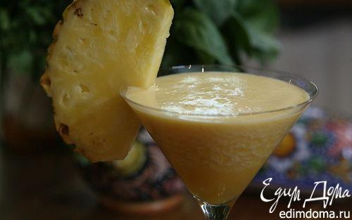 Рецепт Сок из папайи, яблока и ананаса