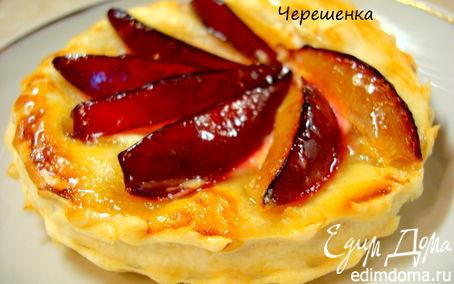 Рецепт Пирожные со сливой, манго и козьим сыром