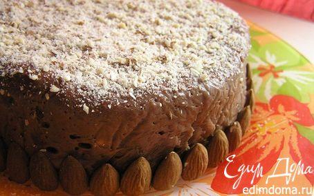 Рецепт Шоколадный торт-тянучка с курагой и орехами