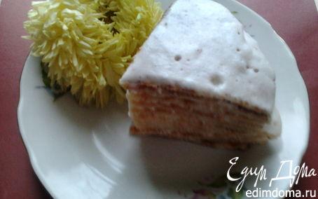Рецепт Вафельный тортик с белковым кремом в вафельнице