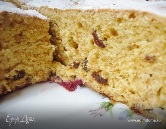 Сдобный пирог с изюмом