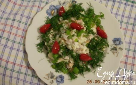 Рецепт Импровизация на тему ОЛИВЬЕ с морковью,бужениной и зелёным луком