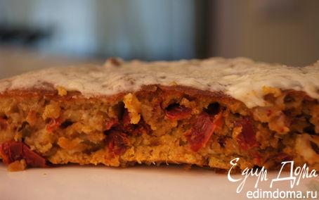 Рецепт Чесночный кекс с сушеными томатами и перцем