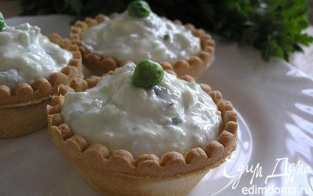 Рецепт Тарталетки с сырным кремом и мятой