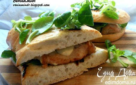 Рецепт Сэндвич с индейкой, корном и домашним майонезом (почти) :)