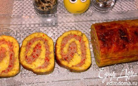 Рецепт Мясной рулет в сырной корочке