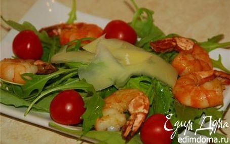 Рецепт Салат с руколой и креветками