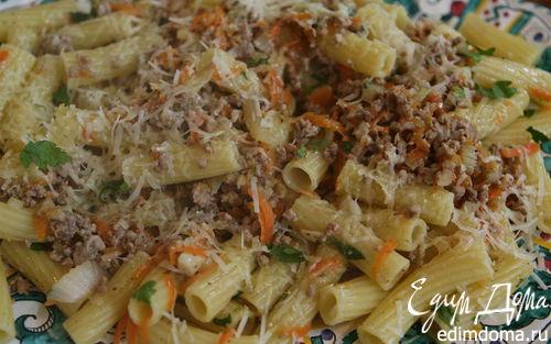 Рецепт Макароны с мясом и овощным рагу