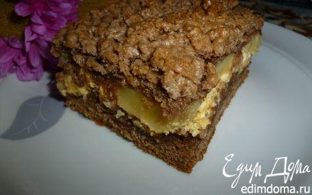Рецепт Бананово-творожный пирог