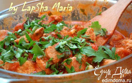 Рецепт Свинина тушенная с томатами и зеленью